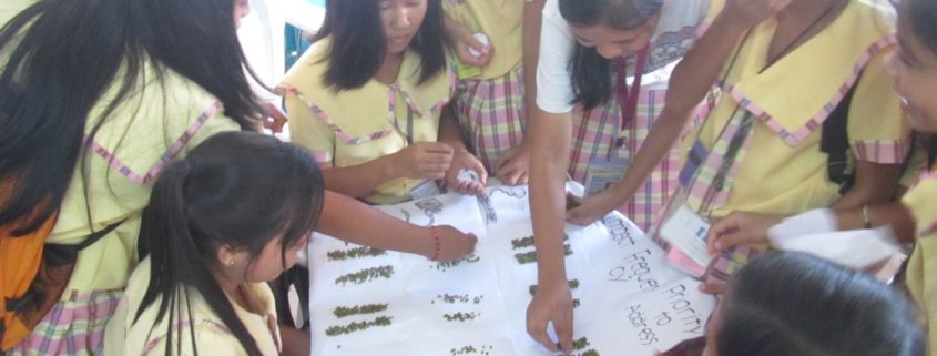 Students from Daanbantayan National High School in Poblacion, Daanbantayan, Cebu identified and ranked the hazards in a Risk Assessment Workshop.